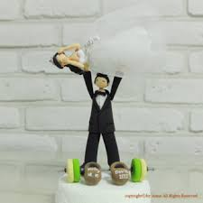 weight lifting cake topper personalized wedding cake toppers guaranteed smiles