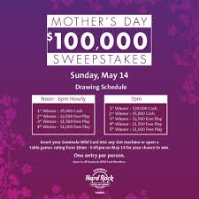 celebrate mom on mother u0027s day at seminole hard rock tampa