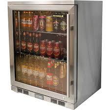 Glass Door Stops by Alfresco Glass Door Bar Fridge With Low E Heated Glass Stops