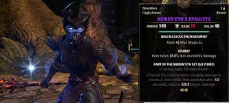 elder scrolls online light armor sets undaunted gear guide