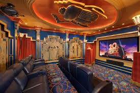 oversized recliner in home theater eclectic with projector screen