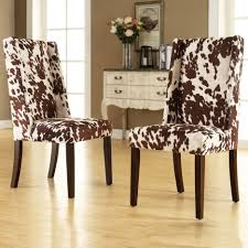 Dining Room Console Table Cowhide Pattern Wingback Dining Room Chair Mixed Antique Console