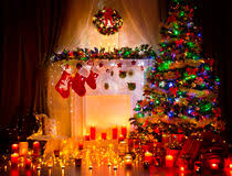 Room Decor Lights Christmas Room Decoration Stock Photo Image Of Boxes 35307686