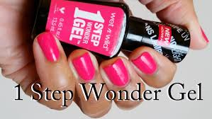 new wet n wild 1 step wonder gel polish review and demo youtube