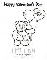 pim valentine u0027s coloring pim