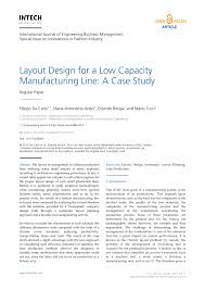 layout design for a low capacity manufacturing line a case study