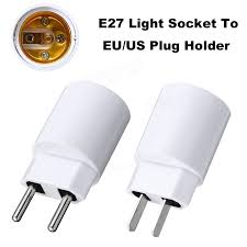 dual outlet light socket adapter e27 light socket to eu us plug holder adapter converter for bulb