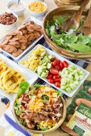 Summer Lunch Menu Ideas For Entertaining - sweet and smoky bbq chicken sausage grilled summer salad