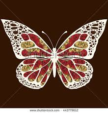 butterfly patterns wings multicolored ornaments stock