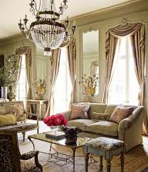 classic decor traditional living room decor with topiary and statue and vases and
