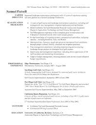 Sample Resume Objectives Pharmacy Technician by Golf Course Superintendent Resume Examples Resume Format 2017