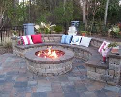 Firepit Patio Wonderful Backyard Patio Ideas With Pit Garden Decors