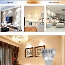 What Temperature Light For Living Room Amazon Com Gu10 Led Bulb Beilai 1 Bulb 3 Color Temperature 3w Cob