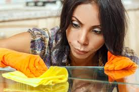 Cleaning Table Stock Images Royalty by Beautiful Housewife Cleaning Table Stock Photo Image 62594722