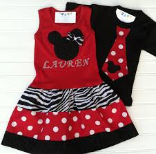 Minnie Mouse Clothes For Toddlers Matching Brother And Sister Mickey And Minnie Available 0