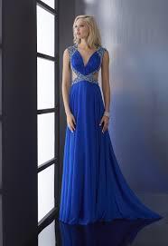 buy tailor made v neck chiffon long royal blue prom dresses