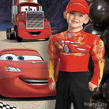 Lightning Mcqueen Halloween Costume Cars Birthday Costume Idea Party