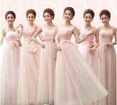 Light Pink Bridesmaid Dress 2016 Light Pink Bridesmaid Dress Long Off Shoulder Gauze Lace