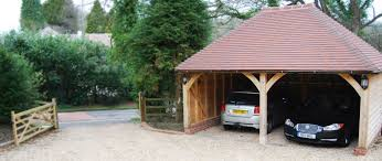 oak framed garages the acorn range oak designs co