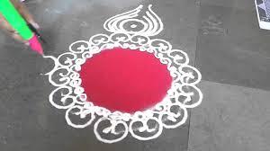 simple sanskar bharti rangoli design for diwali youtube