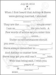 wedding mad libs printable wedding mad lib a guest book alternative wedding