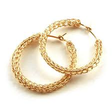 gold hoop earings gold hoop earrings medium hoops yooladesign