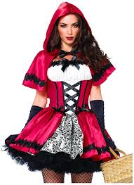 amazon com leg avenue women u0027s 2 piece gothic red riding hood