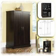 Armoire Desks Home Office Computer Desk Armoire Cabinet Sauder Wood Hutch Credenza