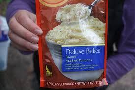 instant mashed potatoes make great camping food backyard life