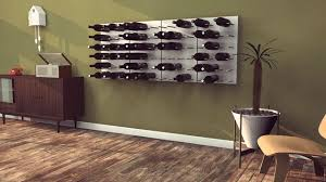 stact modular wall mounted wine rack system designed by eric