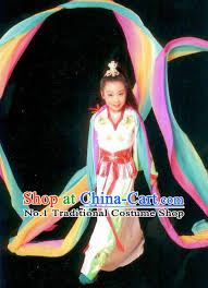 Water Halloween Costume Fashion China Traditional Chinese Dress Ancient Chinese Clothing