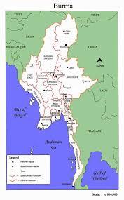 Bay Of Bengal Map Maps Of Myanmar Burma Detailed Map Of Myanmar In English