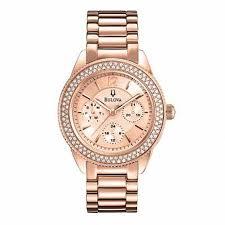 bulova ladies bracelet images Ladies 39 bulova crystal accent chronograph rose tone watch model jpg