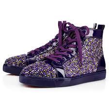 louis strass men u0027s flat version purple pop strass men shoes