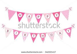Shabby Chic Banner by Cute Vintage Festive Fabric Pennant Banner Stock Vector 342221447