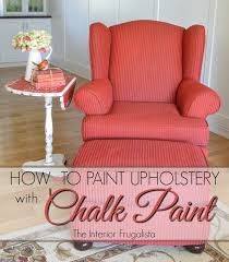 change upholstery on chair a red painted wingback chair change the color not the fabric