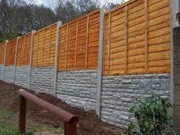 concrete fence panels wood best house design concrete fence