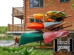 Free Standing Kayak Storage Rack Plans by Kayak Rack Storage Racks For Kayaks U0026 Canoe Wooden Log Construction