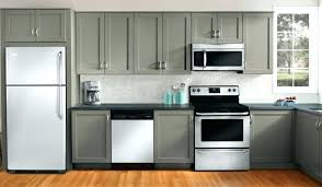 How To Paint Oak Kitchen Cabinets Painting Oak Cabinets Grey Ohfudge Info