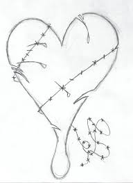 heart sketches in pencil pencil drawing collection