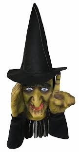 spazm animated halloween prop amazon com halloween decoration tapping witch scary peeper
