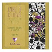 Carnet de coloriage pour adulte CLAIREFONTAINE fleurs