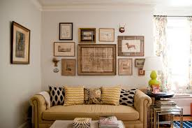 collage picture frame ideas living room eclectic with mismatched