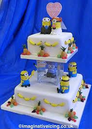 minion wedding cake topper minion wedding minions wedding cake imaginative icing for