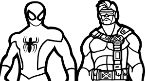 spiderman and cyclops coloring book coloring pages kids fun art