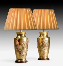 Oriental Table Lamps Uk Pair Of Brass Oriental Style Lamps Summers Davis Antiques