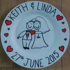 and groom plates brilliant things happen in calm minds
