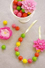 edible candy jewelry diy gumball necklaces