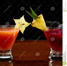 Tropical Fruit Cocktails Stock Photo Image Of Purple 33632972