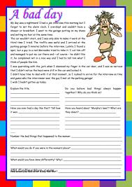 picture comprehension worksheets reading comprehension worksheets for advanced esl students semnext
